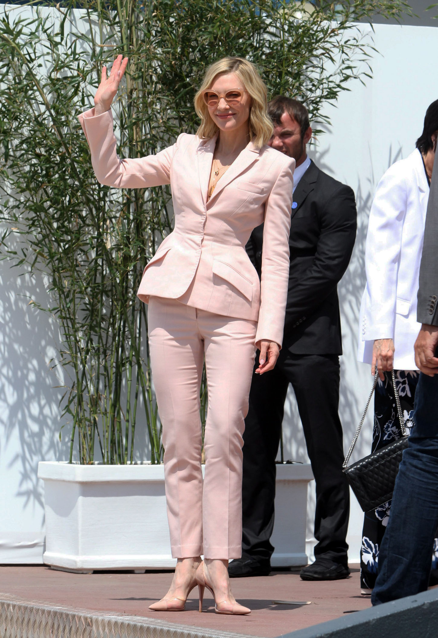 Cate Blanchett, Kirsten Stewart and Ava Duvernay sighted before the Photocall of the Jury from the 71th Filmfestiva De Cannes. <P> Pictured: Cate Blanchett <B>Ref: SPL1693145  080518  </B><BR/> Picture by: Splash News<BR/> </P><P> <B>Splash News and Pictures</B><BR/> Los Angeles:310-821-2666<BR/> New York:212-619-2666<BR/> London:870-934-2666<BR/> <span id=
