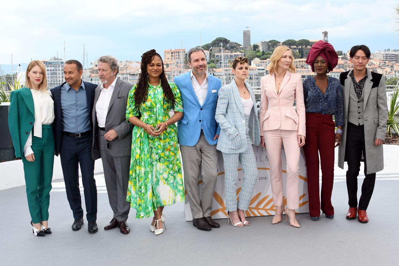 Photocall with jury of 71th International Cannes Film Festival <P> Pictured: Lea Seydoux, Cate Blanchett, Khadja Nin, Kristen Stewart, Denis Villeneuve, Ava Duvernay, Chang Chen, Andrey Zvyagintsev, Robert Guediguian <B>Ref: SPL1693864  080518  </B><BR/> Picture by: Starface  / Splash News<BR/> </P><P> <B>Splash News and Pictures</B><BR/> Los Angeles:310-821-2666<BR/> New York:212-619-2666<BR/> London:870-934-2666<BR/> <span id=