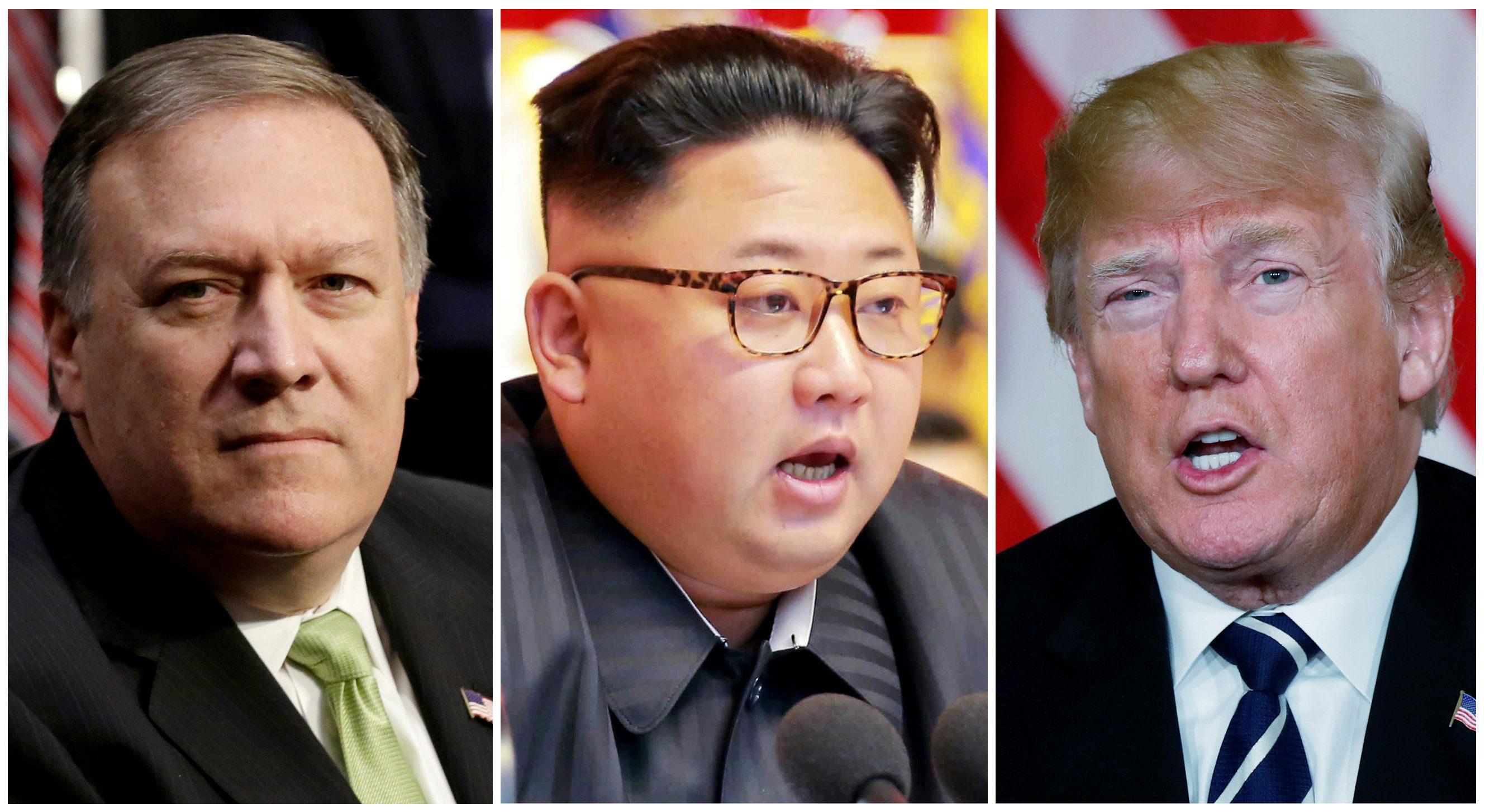 Mike Pompeo, Kim Jong-un, Donald Trump