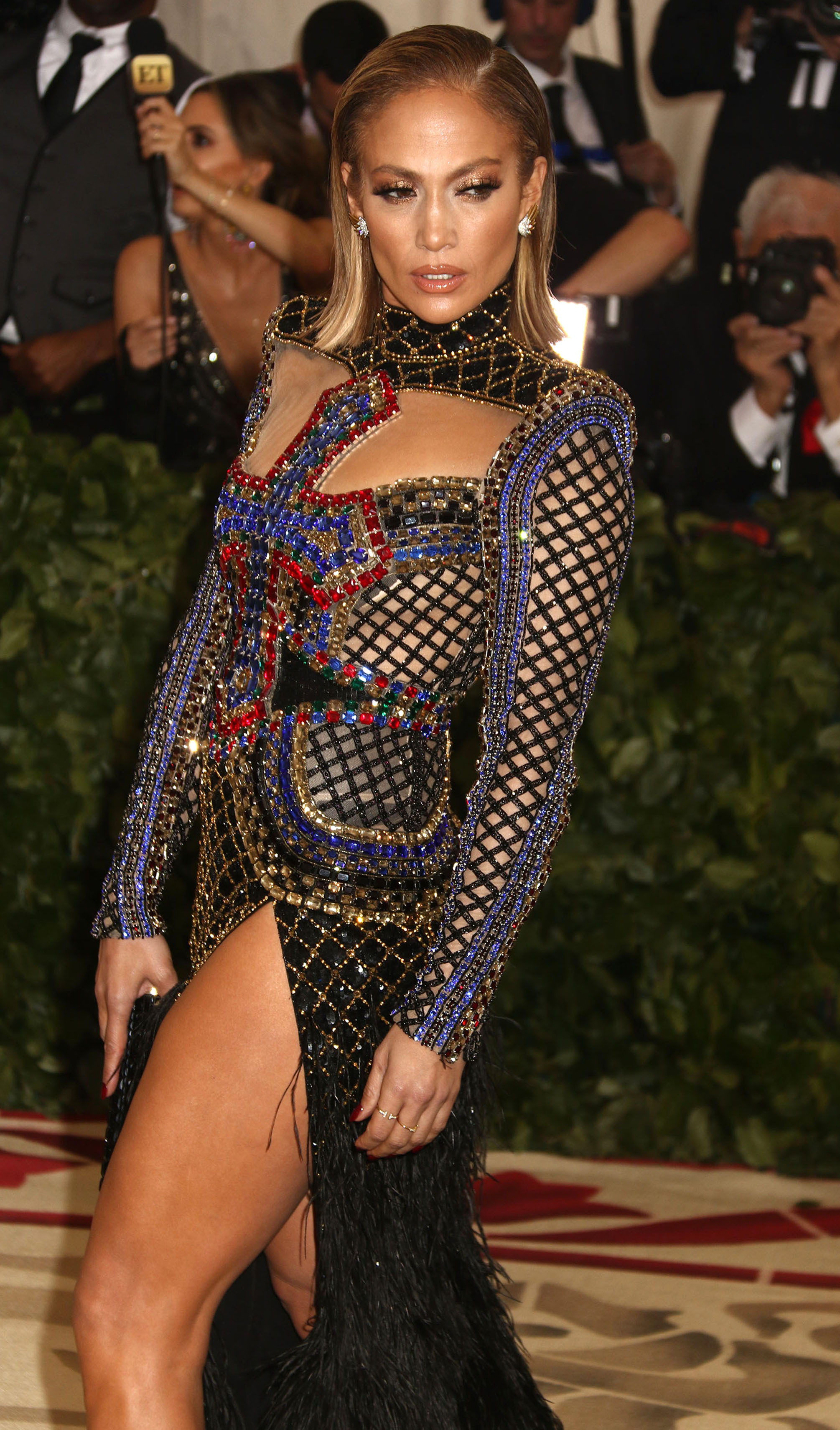 May 7, 2018 - New York City, New York, U.S. The Costume Institute Benefit celebrating the opening of Heavenly Bodies: Fashion and the Catholic Imagination exhibit held at at The Metropolitan Museum of Art <P> Pictured: JENNIFER LOPEZ <B>Ref: SPL1693835  080518  </B><BR/> Picture by: Zuma / Splash News<BR/> </P><P> <B>Splash News and Pictures</B><BR/> Los Angeles:310-821-2666<BR/> New York:212-619-2666<BR/> London:870-934-2666<BR/> <span id=