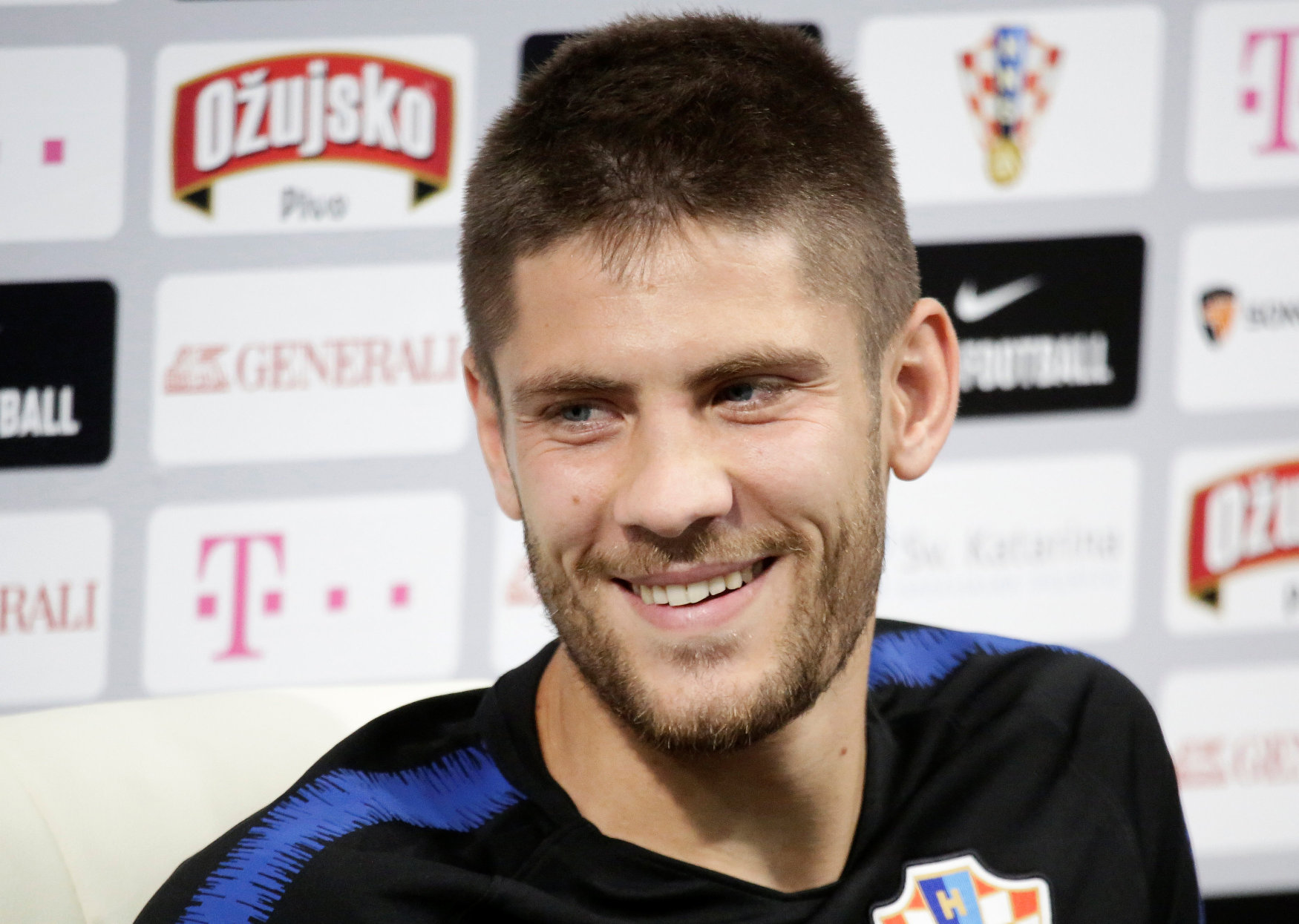 Soccer Football - World Cup - Croatia News Conference - Roschino Arena, St. Petersburg, Russia - June 11, 2018. Andrej Kramaric attends a news conference. REUTERS/Anton Vaganov