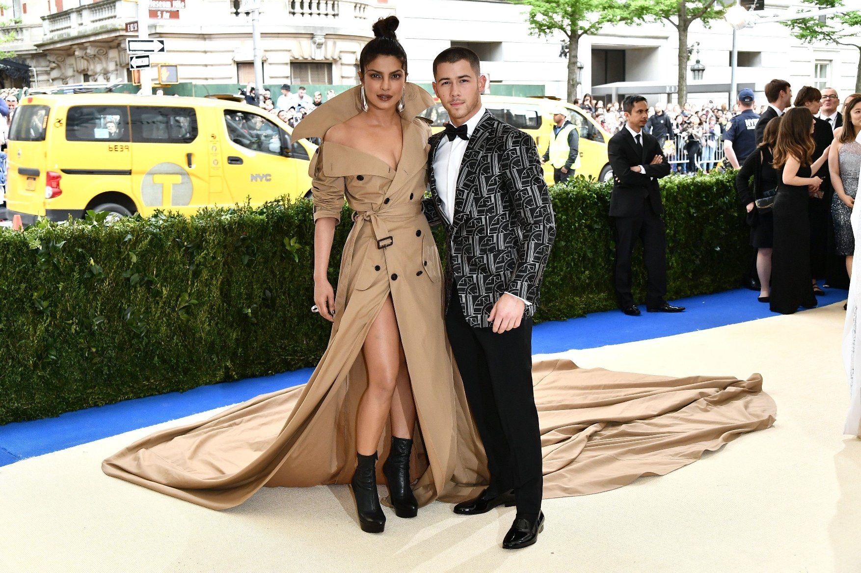 Priyanka Chopra and Nick Jonas The Costume Institute Benefit celebrating the opening of Rei Kawakubo/Comme des Garcons: Art of the In-Between, Arrivals, The Metropolitan Museum of Art, New York, USA - 01 May 2017, Image: 330885253, License: Rights-managed, Restrictions: , Model Release: no, Credit line: Profimedia, TEMP Rex Features