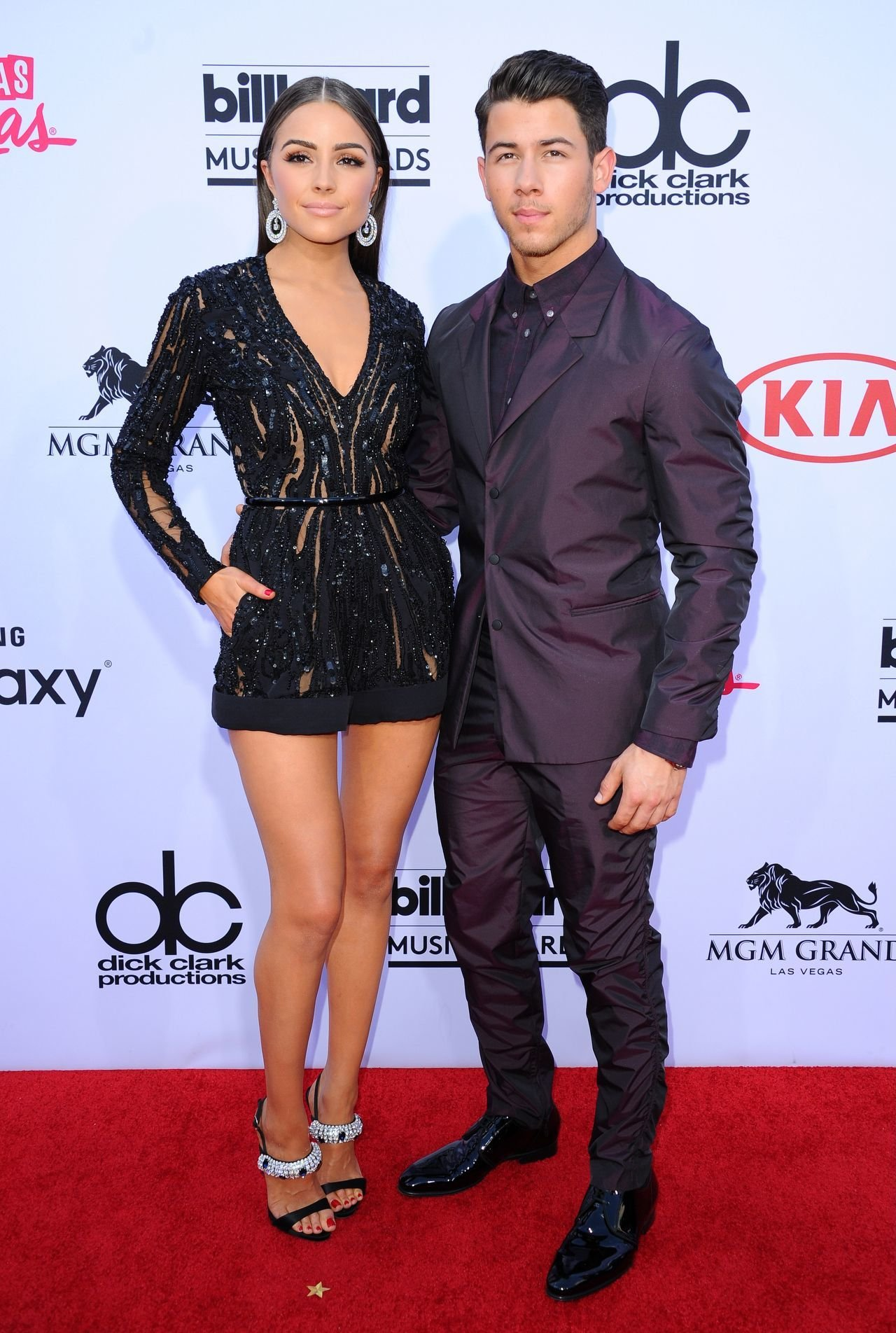 (4778727fg) Olivia Culpo and Nick Jonas Billboard Music Awards arrivals, Las Vegas, America - 17 May 2015, Image: 245499634, License: Rights-managed, Restrictions: , Model Release: no, Credit line: Profimedia, TEMP Rex Features