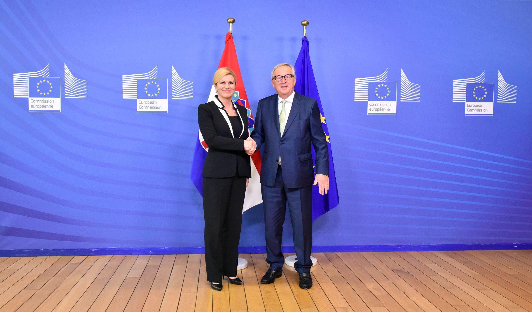 Kolinda Grabar-Kitarović i Jean-Claude Juncker