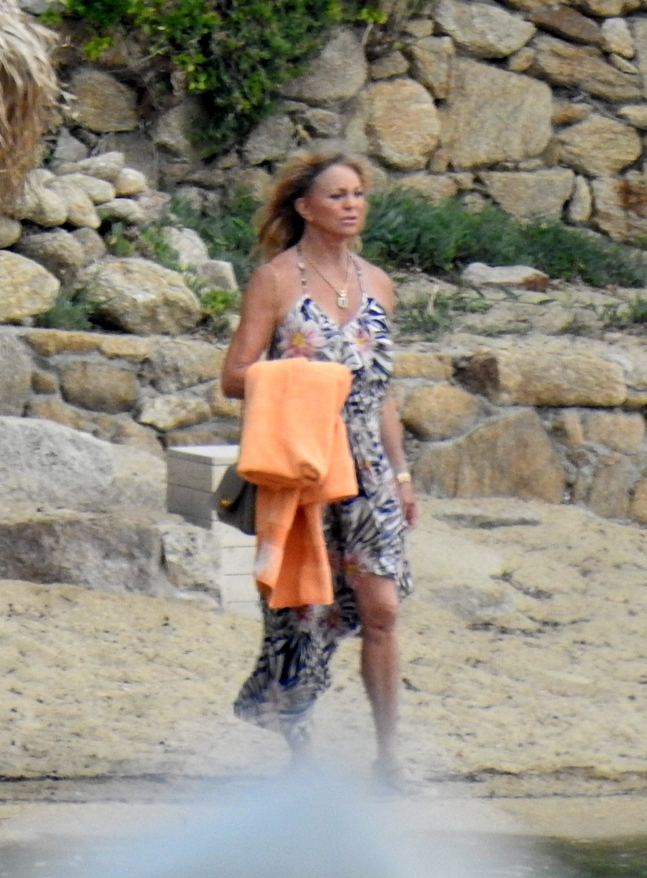 EXCLUSIVE: **USE CHILD PIXELATED IMAGES IF YOUR TERRITORY REQUIRES IT**  American actress, Kate Hudson shows off her growing baby bump while on holiday in Mykonos, Greece.   The actress, 39, is expecting a baby girl with boyfriend, Danny Fujikawa. It will be her third child.   Kate looked radiant in a bikini as she strolled on a beach with mother Goldie and family, including Danny.  Pictured: Kate Hudson,Goldie Hawn,Danny Fujikawa Ref: SPL5003967 150618 EXCLUSIVE Picture by: SplashNews.com  Splash News and Pictures Los Angeles: 310-821-2666 New York: 212-619-2666 London: 0207 644 7656 Milan: +39 02 4399 8577 photodesk@splashnews.com  World Rights, No Greece Rights
