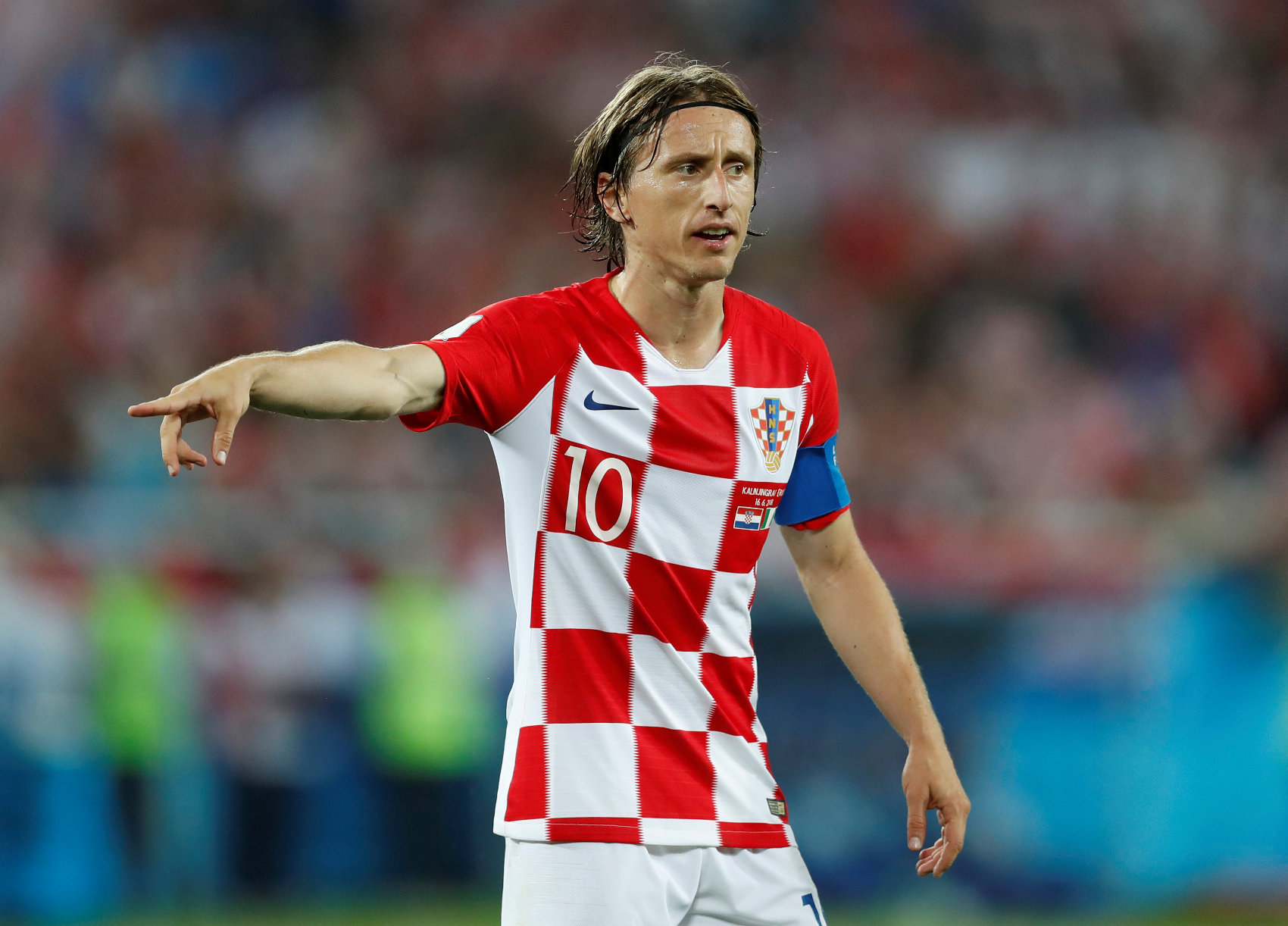 Soccer Football - World Cup - Group D - Croatia vs Nigeria - Kaliningrad Stadium, Kaliningrad, Russia - June 16, 2018   Croatia's Luka Modric gestures           REUTERS/Matthew Childs