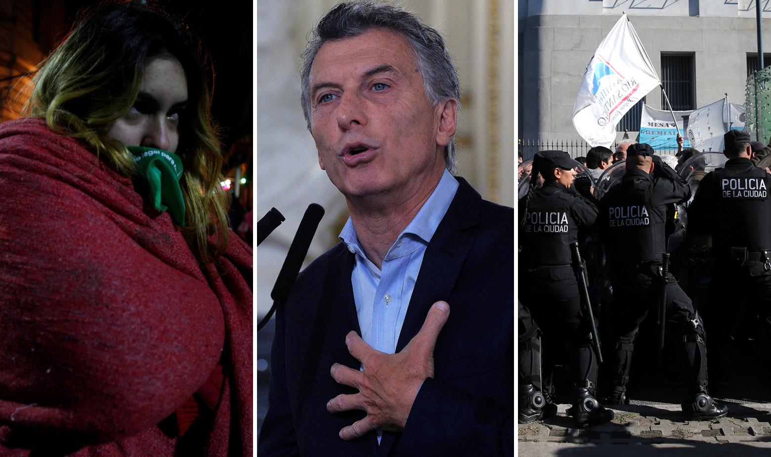 Scene iz Argentine, Maurcio Macri u sredini