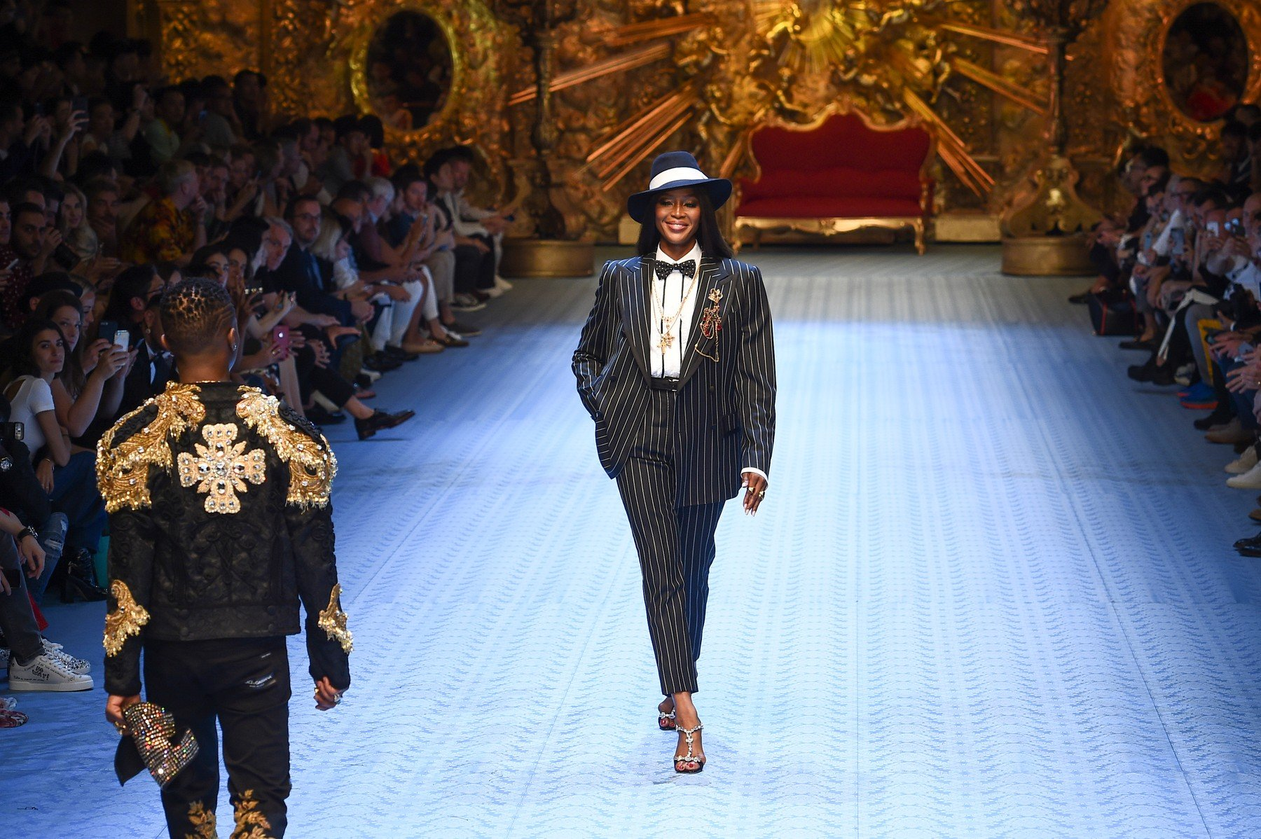 Naomi Campbell  Man Fashion Week SS 19 Dolce&Gabbana Catwalk Milan - Italy 16th june 2018 id  117946_003, Image: 375168142, License: Rights-managed, Restrictions: , Model Release: no, Credit line: Profimedia, SGP