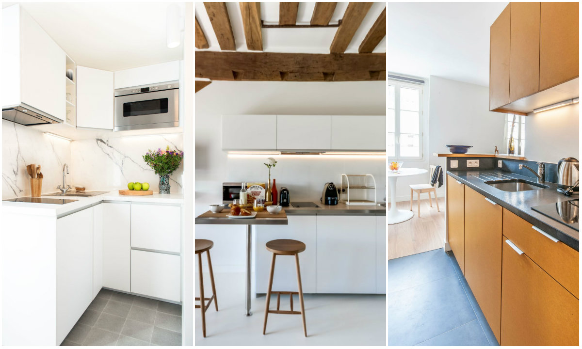 Male kuhinje collage