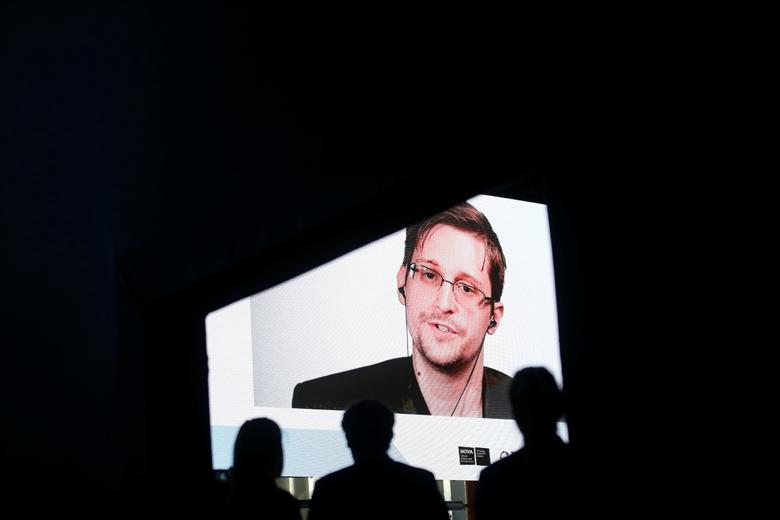 Snowden tijekom konferencije u Estorilu