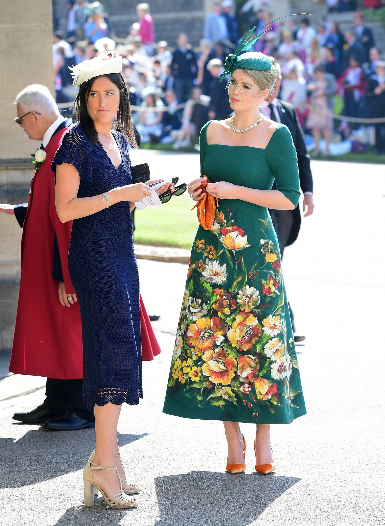 Lady Kitty Spencer (right) arrives at St George's Chapel at Windsor Castle for the wedding of Meghan Markle and Prince Harry., Image: 372242721, License: Rights-managed, Restrictions: , Model Release: no, Credit line: Profimedia, Press Association