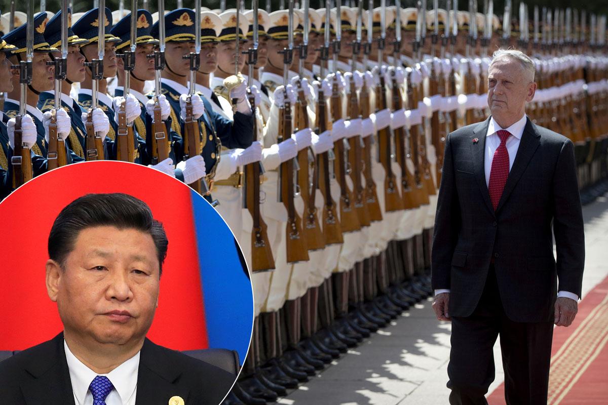 Jim Mattis i Xi Jinping (u krugu)