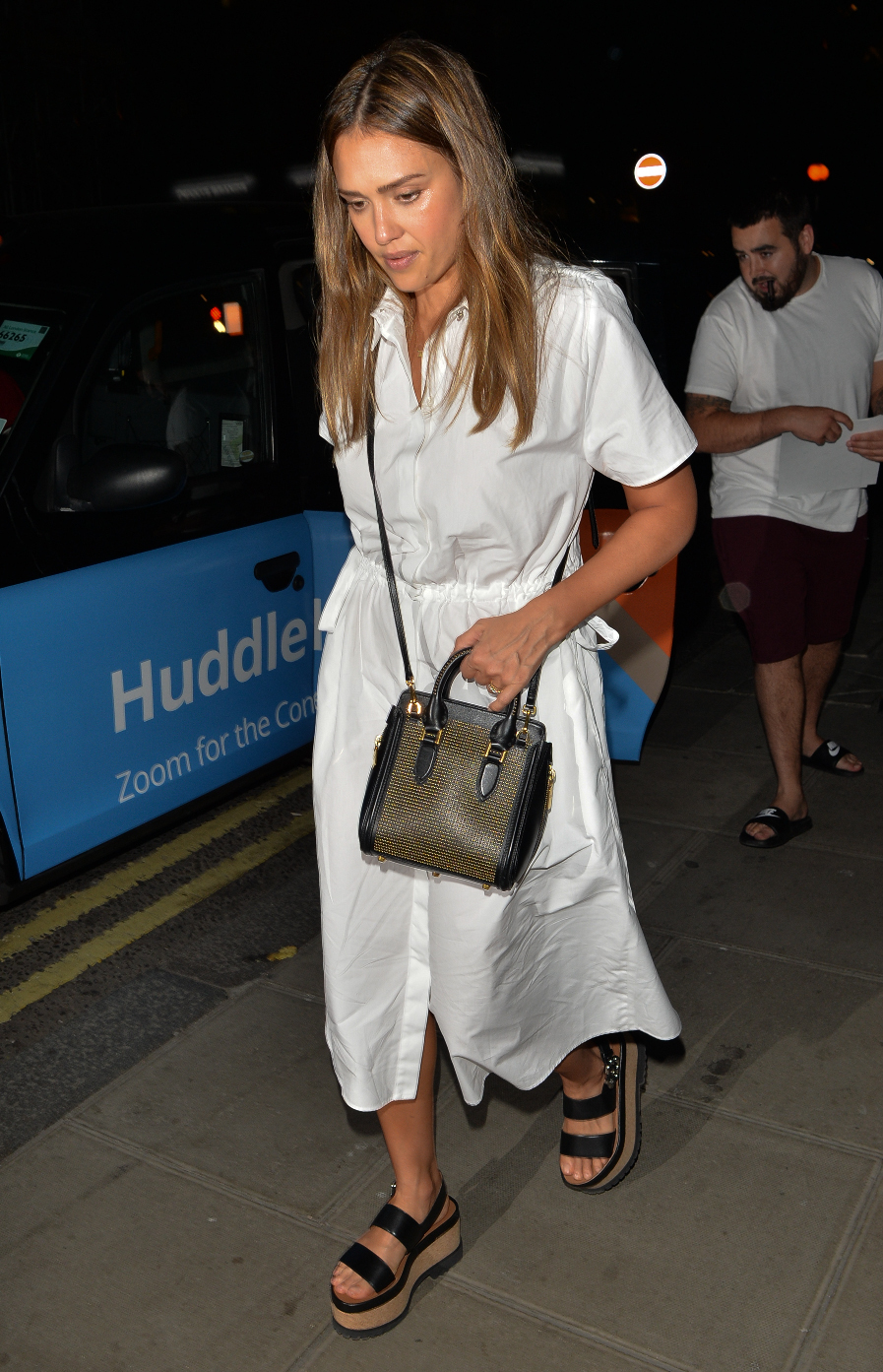 Jessica Alba seen leaving Chiltern Firehouse  Pictured: Jessica Alba Ref: SPL5006542 260618 NON-EXCLUSIVE Picture by: PALACE LEE / SplashNews.com  Splash News and Pictures Los Angeles: 310-821-2666 New York: 212-619-2666 London: 0207 644 7656 Milan: +39 02 4399 8577 photodesk@splashnews.com  World Rights