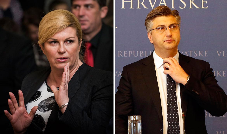 Kolinda Grabar-Kitarović, Andrej Plenković