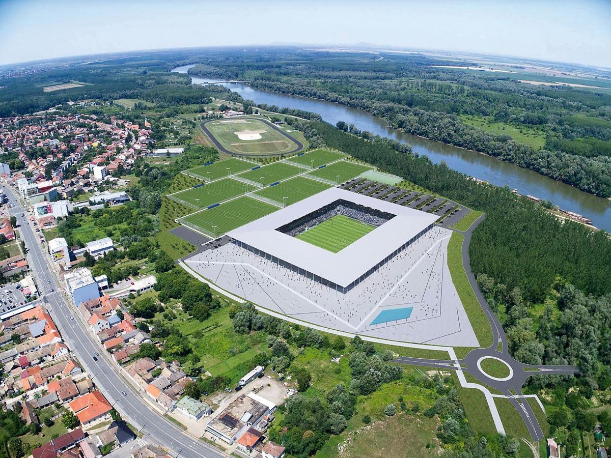 Projekt grandioznog kompleksa novog osječkog stadiona i nogometnog kampa na Pampasu kakav Hrvatska još nije vidjela vrijedan je više od 35 milijuna eura
