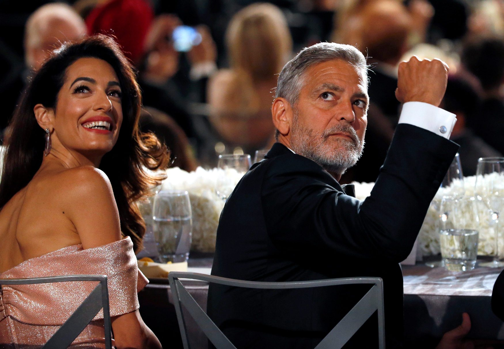 Amal i George u publici