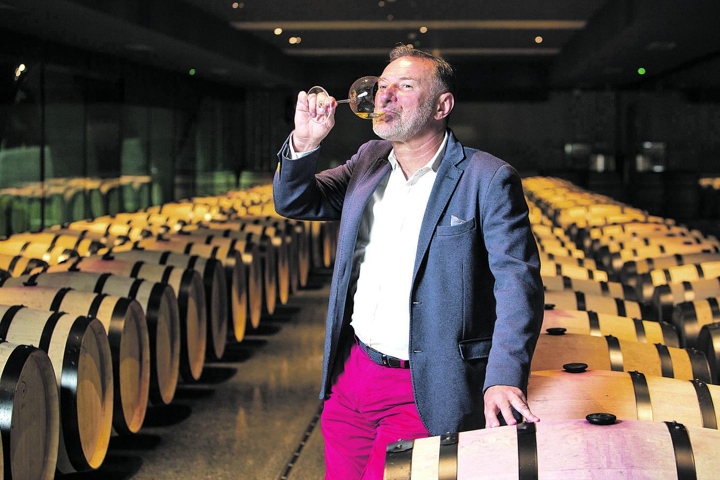Kutjevo, 280628.  Nova vinarija Galic u Kutjevu vlasnika Josipa Galica.  Na fotografiji: Josip Galic. Foto: Vlado Kos / CROPIX