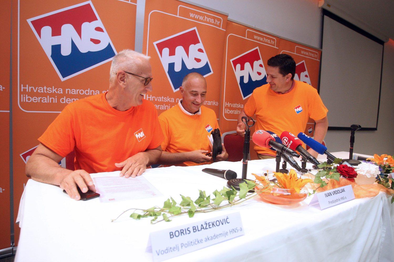 Konferencija za novinare, Boris Blažeković, Ivan Vrdoljak i Tomislav Stojak
