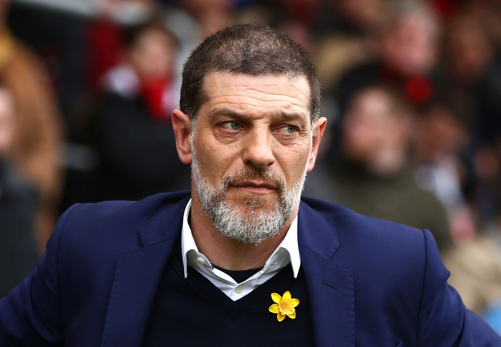 BOURNEMOUTH, ENGLAND - MARCH 11: Slaven Bilic, Manager of West Ham United looks on during the Premier League match between AFC Bournemouth and West Ham United  at Vitality Stadium on March 11, 2017 in Bournemouth, England.  (Photo by Jordan Mansfield/Getty Images)