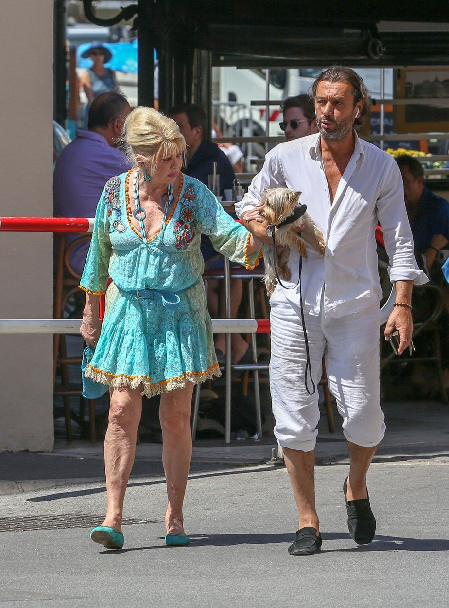 June 27th, 2018 - Saint Tropez  Ivana Trump and Rossano Rubicondi show us their adorable new  yorkshire while enjoying a stroll in Saint Tropez.   ****** BYLINE MUST READ : © Spread Pictures ******  ****** No Web Usage before agreement ******  ******Please hide the children\'s faces prior to the publication******  ****** Stricly No Mobile Phone Application or Apps use without our Prior Agreement ******  Enquiries at photo@spreadpictures.com, Image: 376256862, License: Rights-managed, Restrictions: WORLDWIDE, Model Release: no, Credit line: Profimedia, Spread Pictures