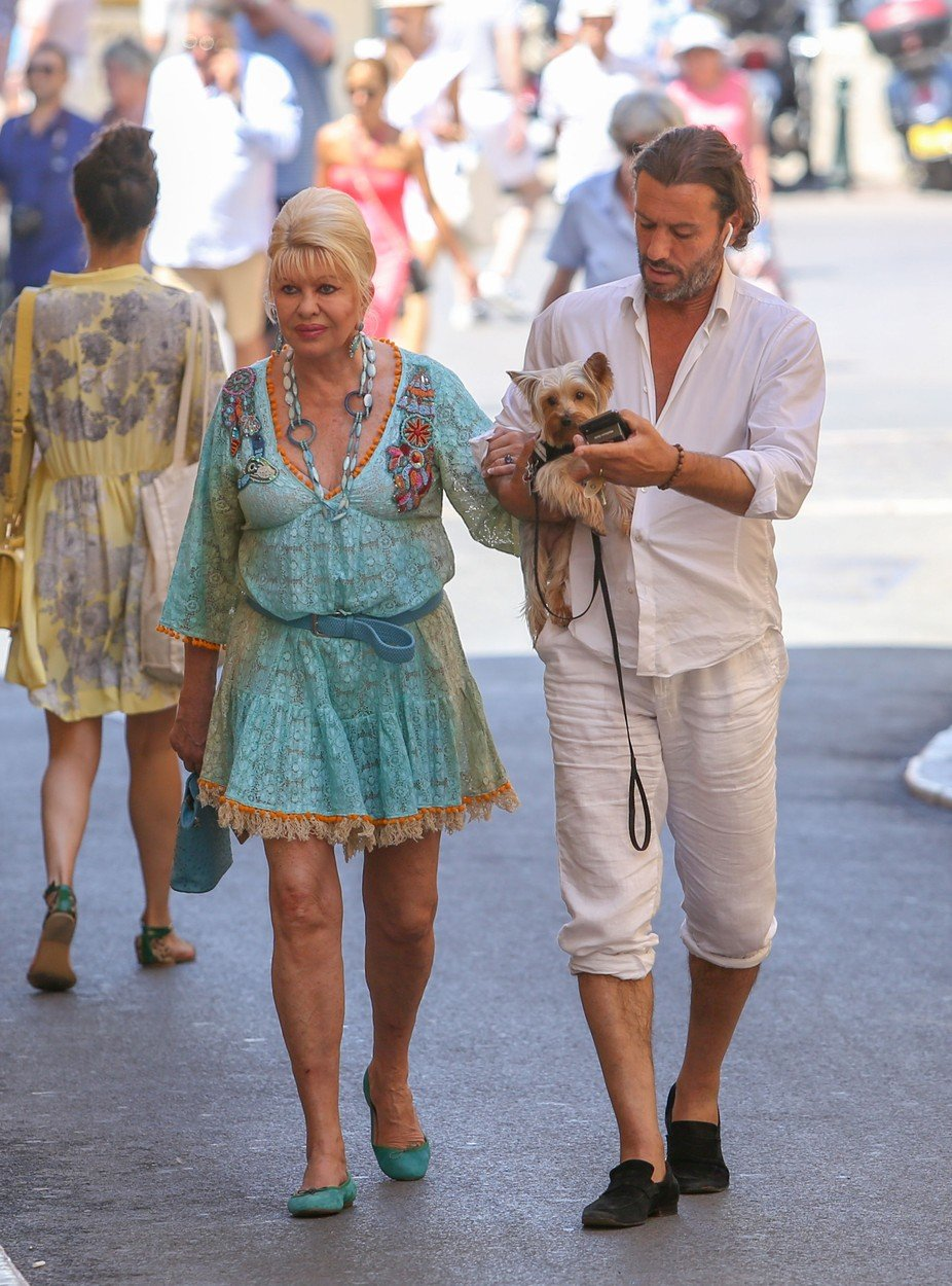 June 27th, 2018 - Saint Tropez  Ivana Trump and Rossano Rubicondi show us their adorable new  yorkshire while enjoying a stroll in Saint Tropez.   ****** BYLINE MUST READ : © Spread Pictures ******  ****** No Web Usage before agreement ******  ******Please hide the children\'s faces prior to the publication******  ****** Stricly No Mobile Phone Application or Apps use without our Prior Agreement ******  Enquiries at photo@spreadpictures.com, Image: 376256880, License: Rights-managed, Restrictions: WORLDWIDE, Model Release: no, Credit line: Profimedia, Spread Pictures