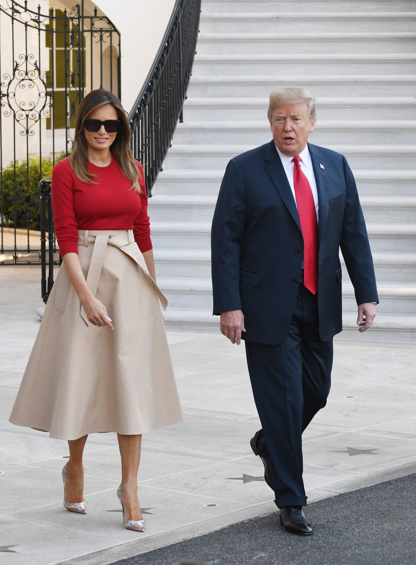 U.S. President Donald Trump and First Lady Melania Trump depart the White House en route to Brussels, Belgium, July 10, 2018 in Washington, DC., Image: 377430085, License: Rights-managed, Restrictions: , Model Release: no, Credit line: Profimedia, Abaca