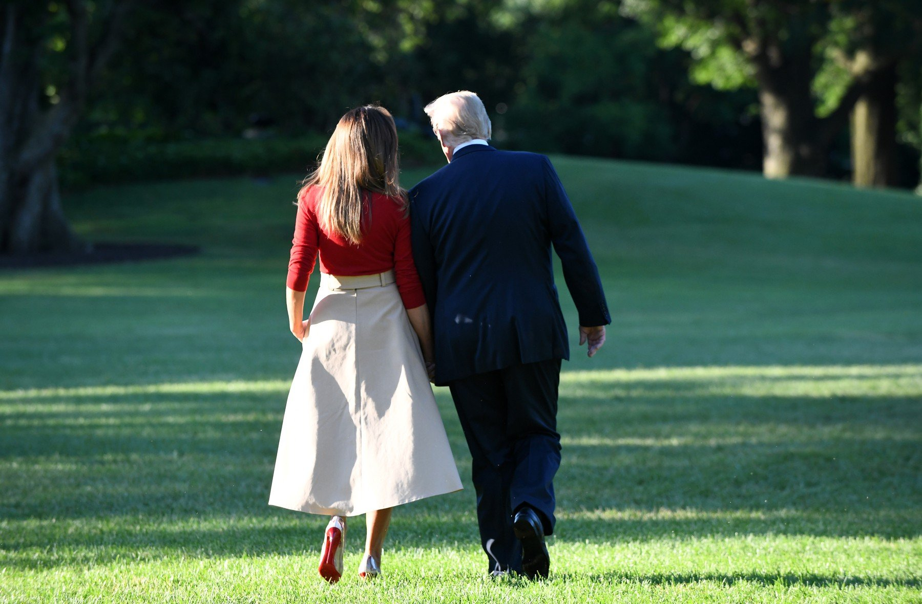 U.S. President Donald Trump and First Lady Melania Trump depart the White House en route to Brussels, Belgium, July 10, 2018 in Washington, DC., Image: 377430100, License: Rights-managed, Restrictions: , Model Release: no, Credit line: Profimedia, Abaca