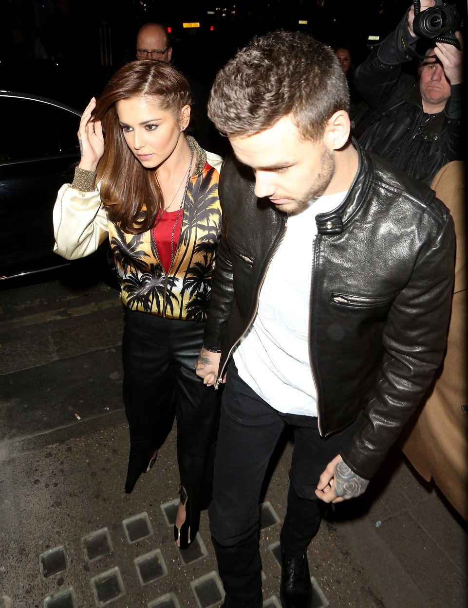 12 Apr 2016 - London - UK  Cheryl Fernandez-Versini and Liam Payne seen here arriving at Sexy Fish restaurant in London pictured for the first time in weeks and the first time Cheryl has been pictured since quitting the X Factor. Liam was seen grasping Cheryls hand as he helped her into the restaurant., Image: 281322405, License: Rights-managed, Restrictions: PLEASE CREDIT AS PER BYLINE *UK CLIENTS - PLEASE PIXELATE CHILDS FACE BEFORE PUBLICATION***UK CLIENTS MUST CALL PRIOR TO TV OR ONLINE USAGE PLEASE CALL  44 208 344 2007, Model Release: no, Credit line: Profimedia, Xposurephotos