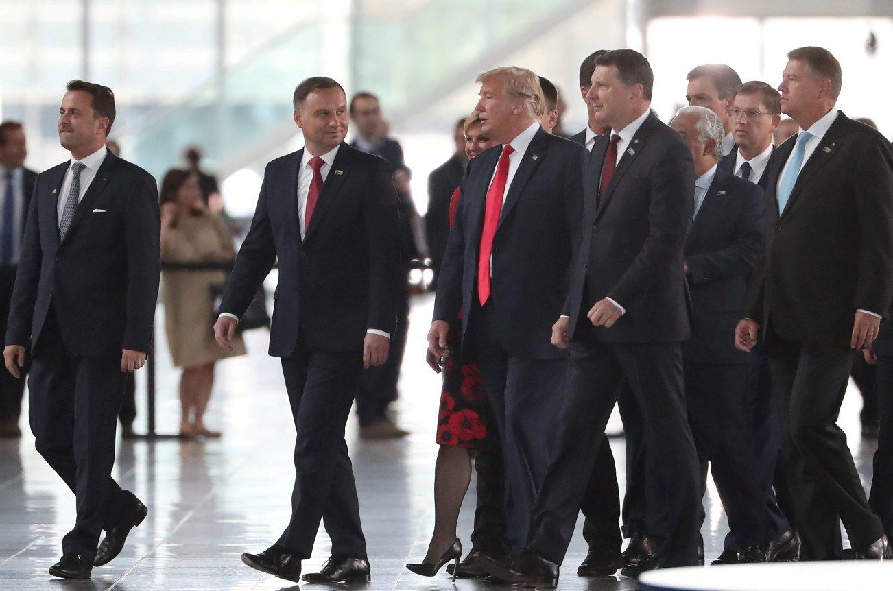 U.S. President Donald Trump is seen at NATO headquarters in Brussels, Belgium, July 11, 2018.. Tatyana Zenkovich/Pool via REUTERS