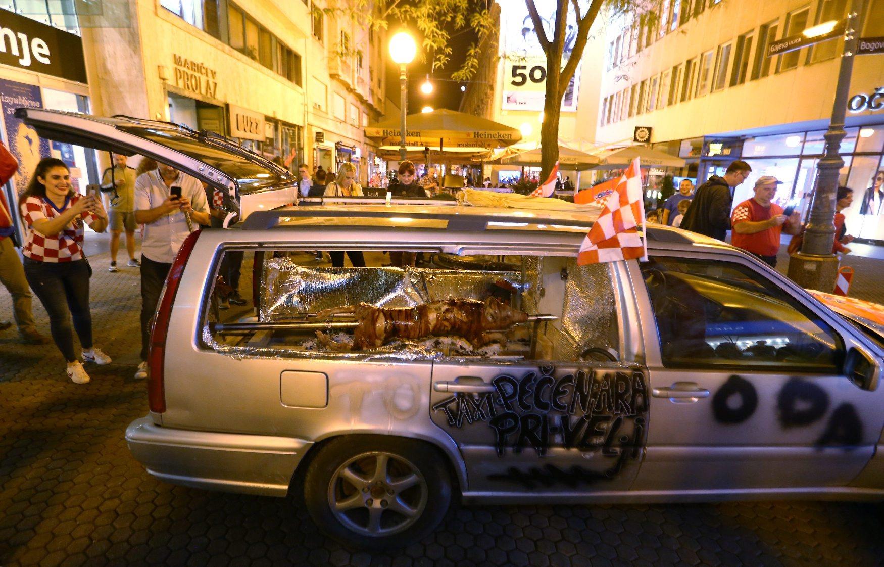 Ražanj u gepeku automobila u Gajevoj ulici