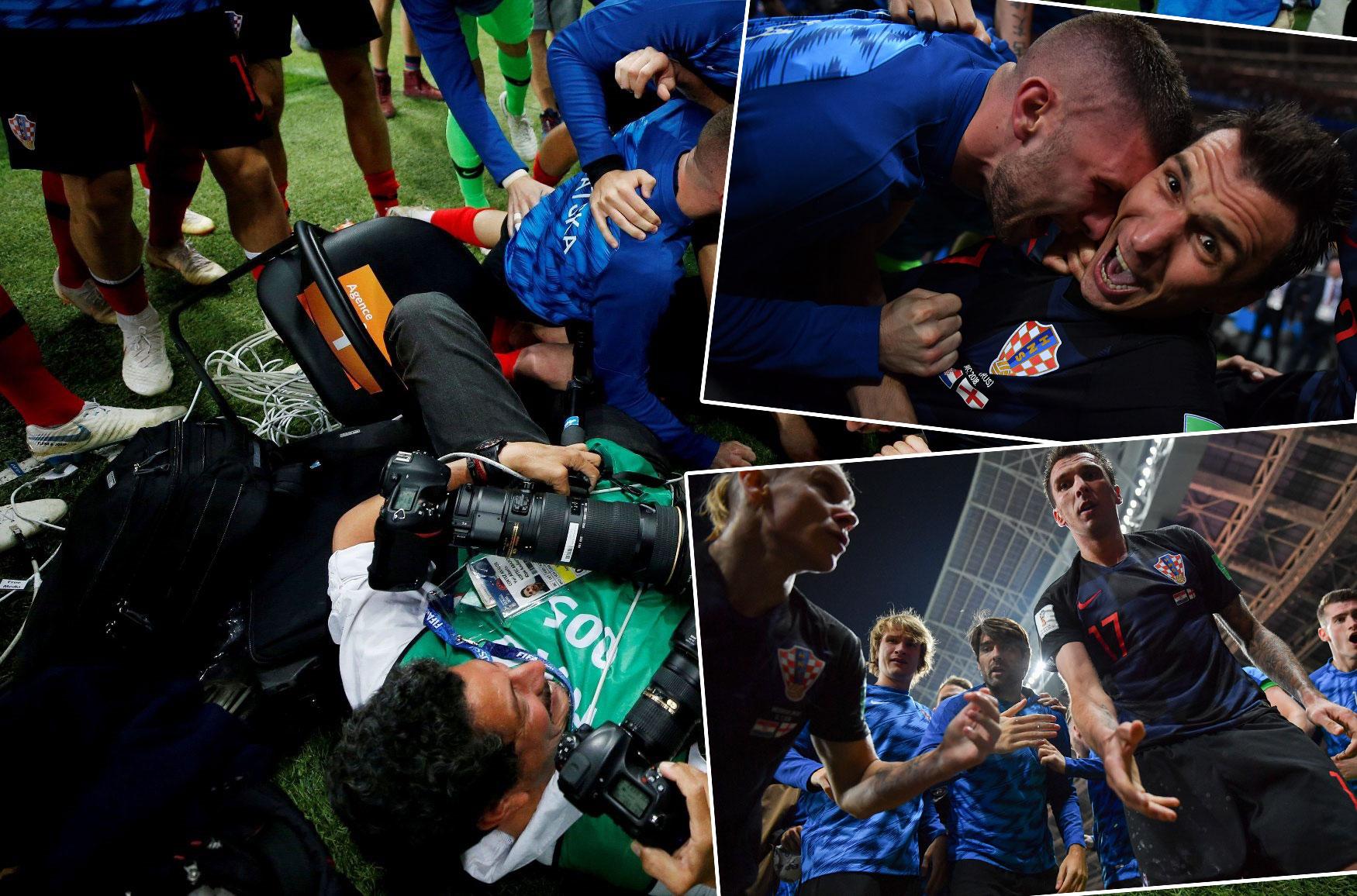 lijevo: Yuri Cortez iz objektiva Reutersova fotoreportera; desno: fotografije koje je Cortez snimio nakon rušenja na tlo