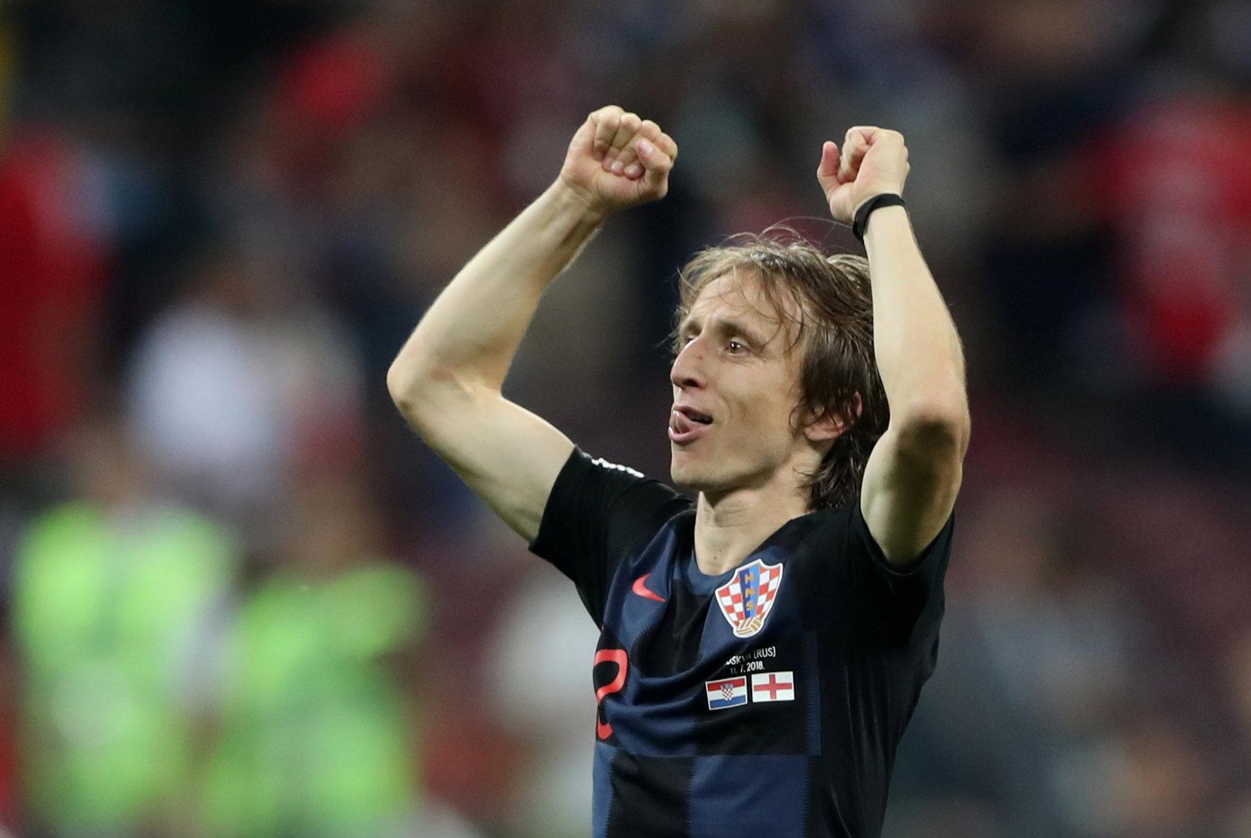 Soccer Football - World Cup - Semi Final - Croatia v England - Luzhniki Stadium, Moscow, Russia - July 11, 2018  Croatia's Luka Modric celebrates after the match   REUTERS/Carl Recine