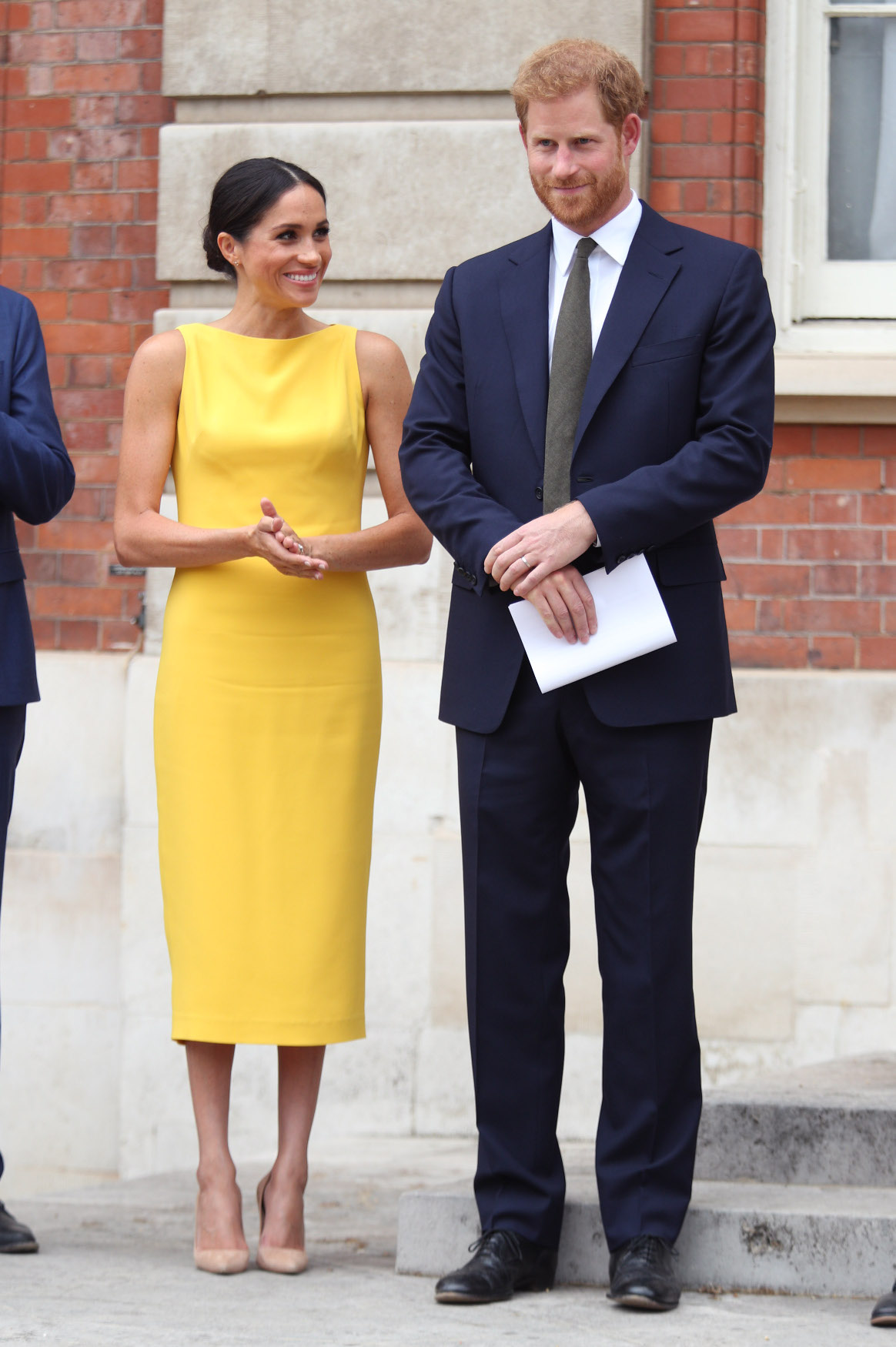 LONDON, ENGLAND - JULY 05: Prince Harry, Duke of Sussex and Meghan, Duchess of Sussex attend the Your Commonwealth Youth Challenge reception at Marlborough House on July 05, 2018 in London, England. (Photo by Yui Mok - WPA Pool/Getty Images)