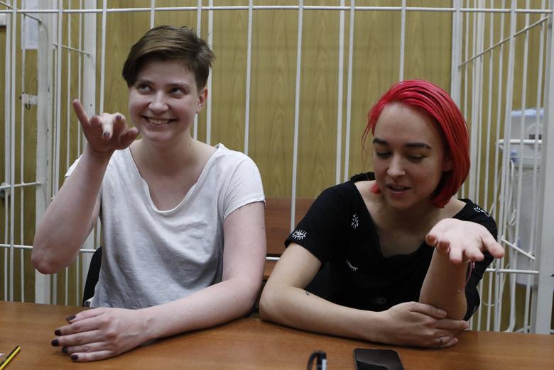 Olga Pahtusova i Olga Kuračjova iz grupe Pussy Riot