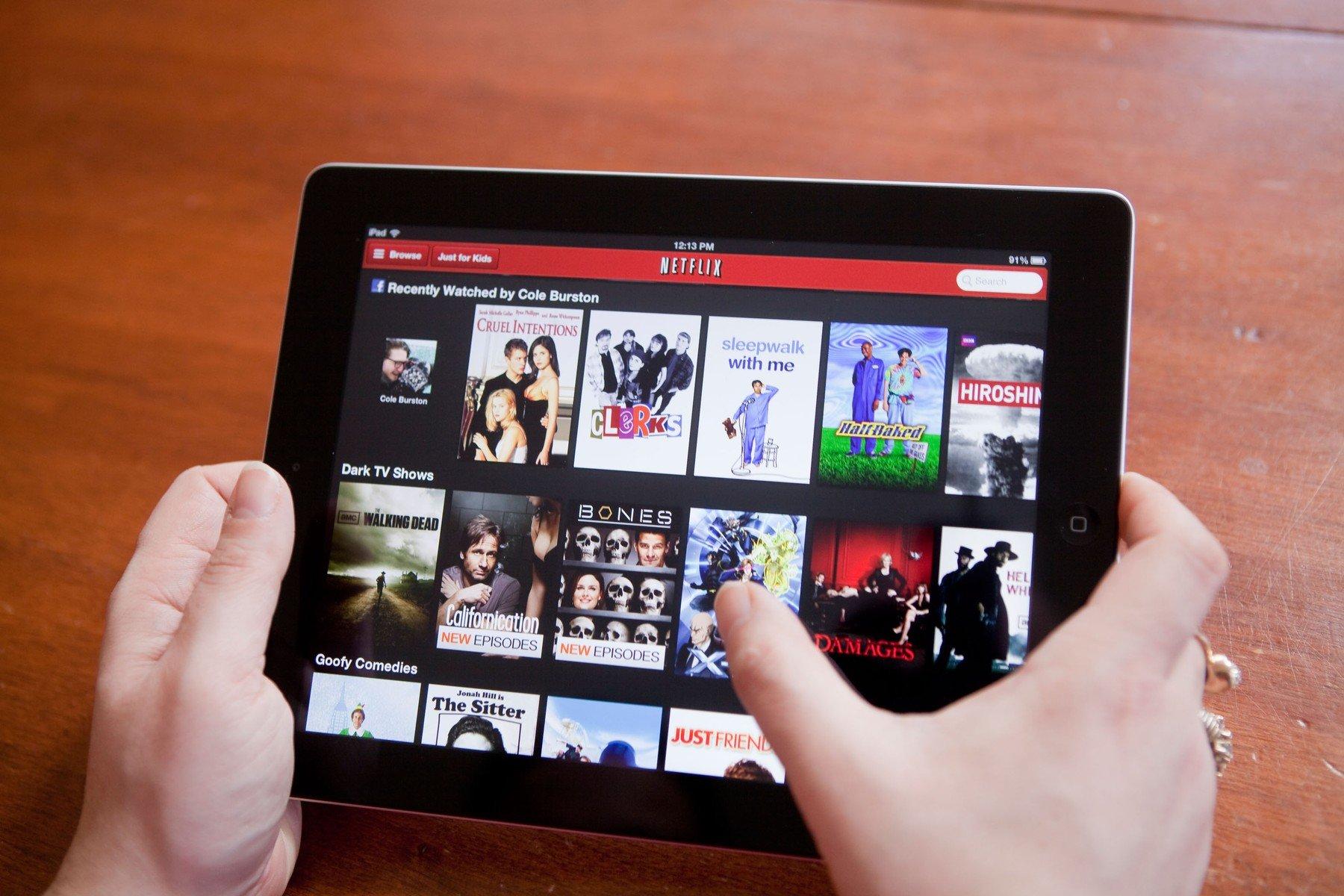 Netflix na tabletu, ilustracija