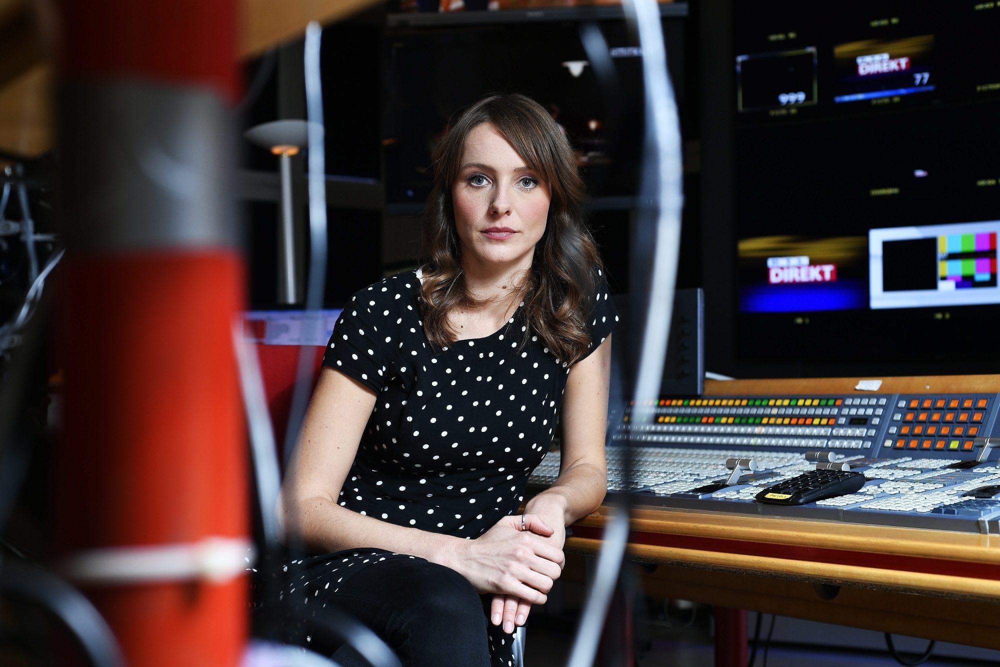 Mojmira Pastorcic, urednica emisije RTL Direkt, fotografirana u prostorima RTL televizije.