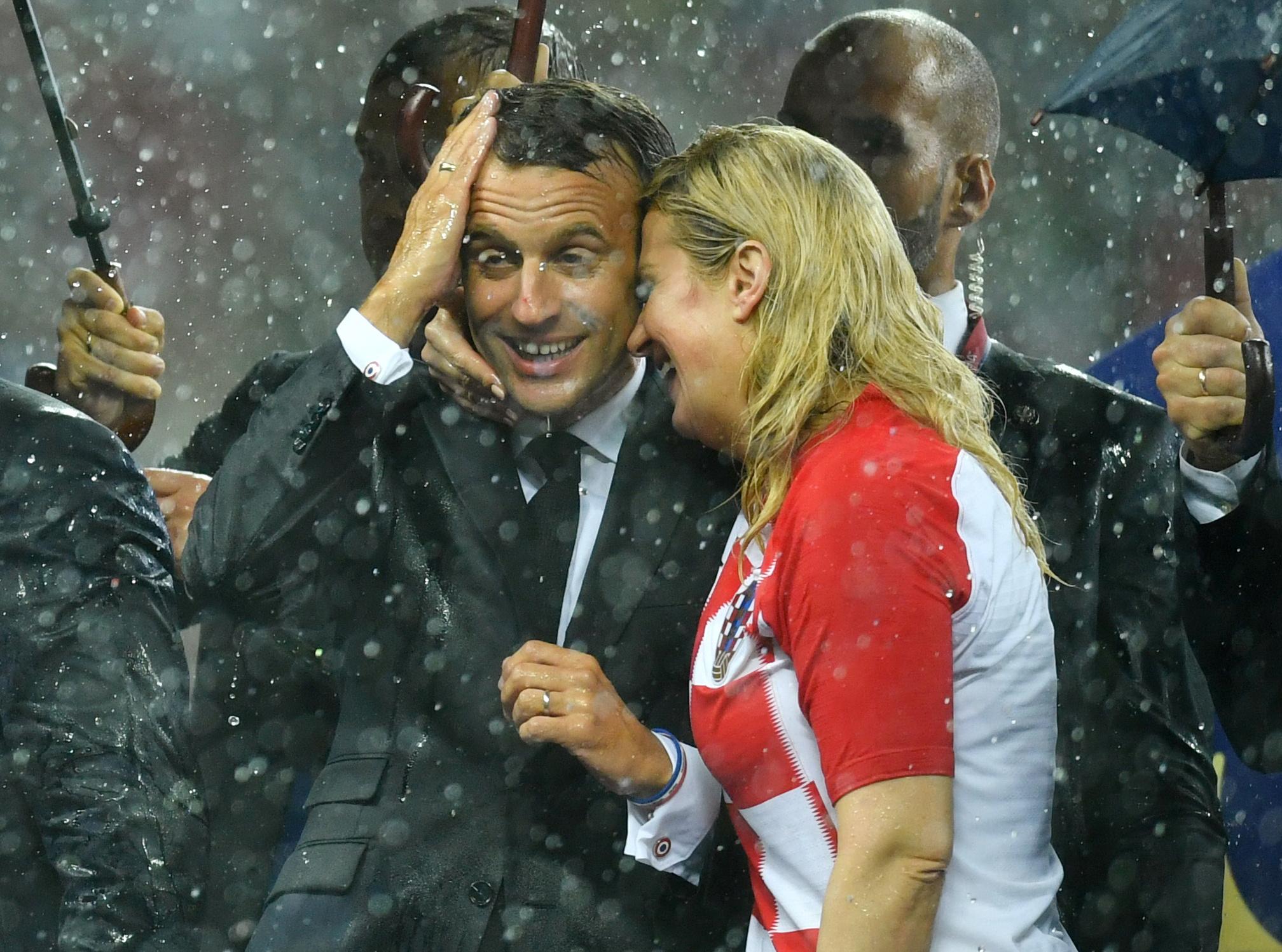Kolinda Grabar-Kitarović i Emmanuel Macron