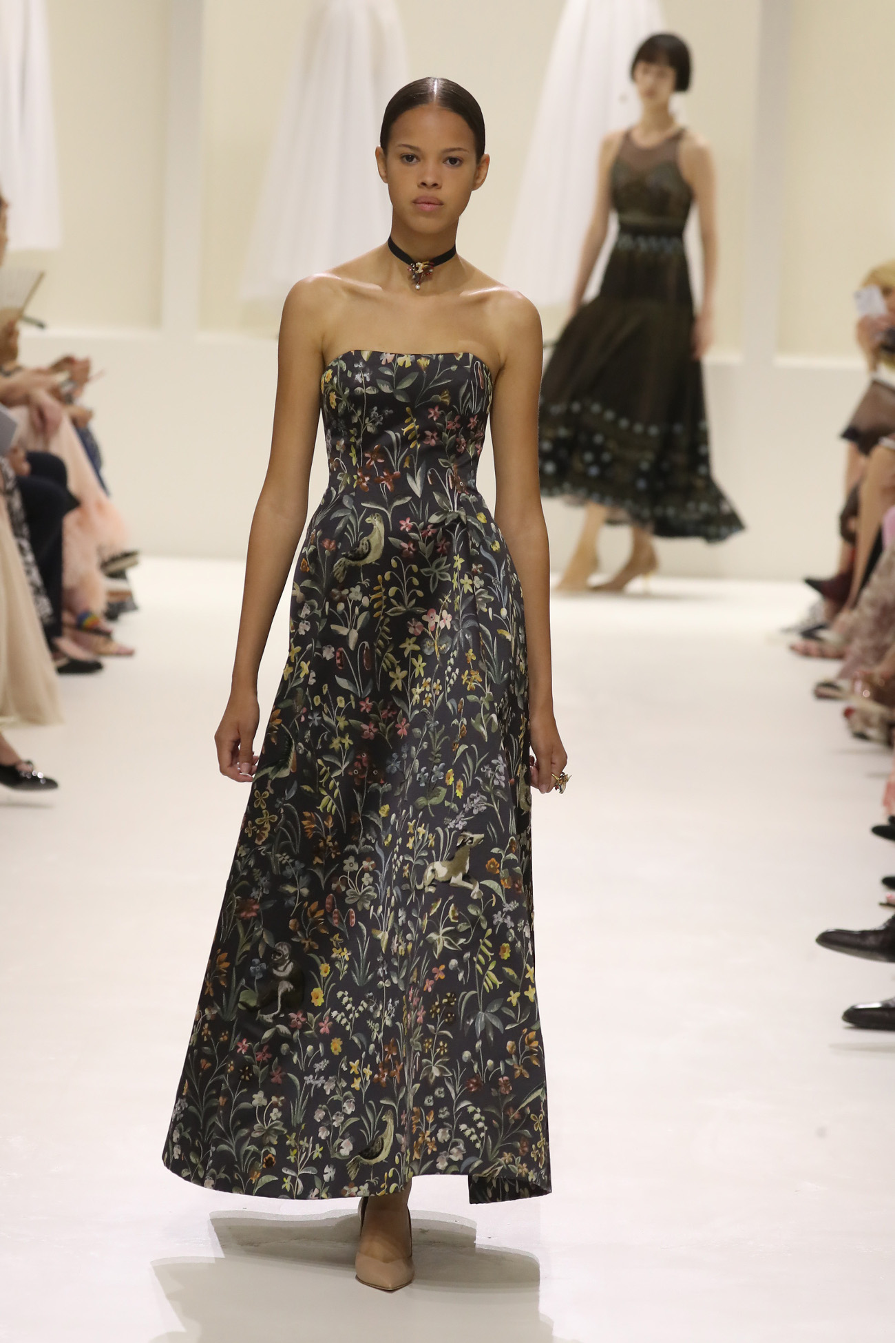 A model walks the runway during the Christian Dior Haute Couture Fall Winter 2018/2019 show as part of Paris Fashion Week on July 2, 2018 in Paris, France.  Pictured:  Ref: SPL5007698 020718 NON-EXCLUSIVE Picture by: Antonio Barros / SplashNews.com  Splash News and Pictures Los Angeles: 310-821-2666 New York: 212-619-2666 London: 0207 644 7656 Milan: +39 02 4399 8577 photodesk@splashnews.com  World Rights
