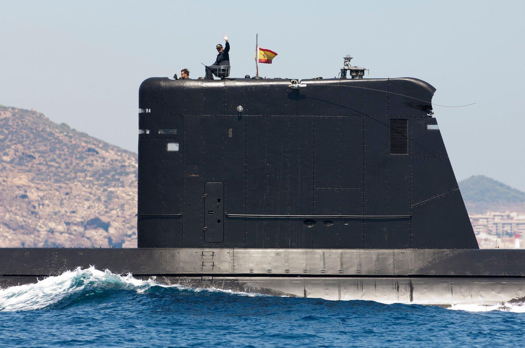 Španjolska podmornica S-70 u Kartageni