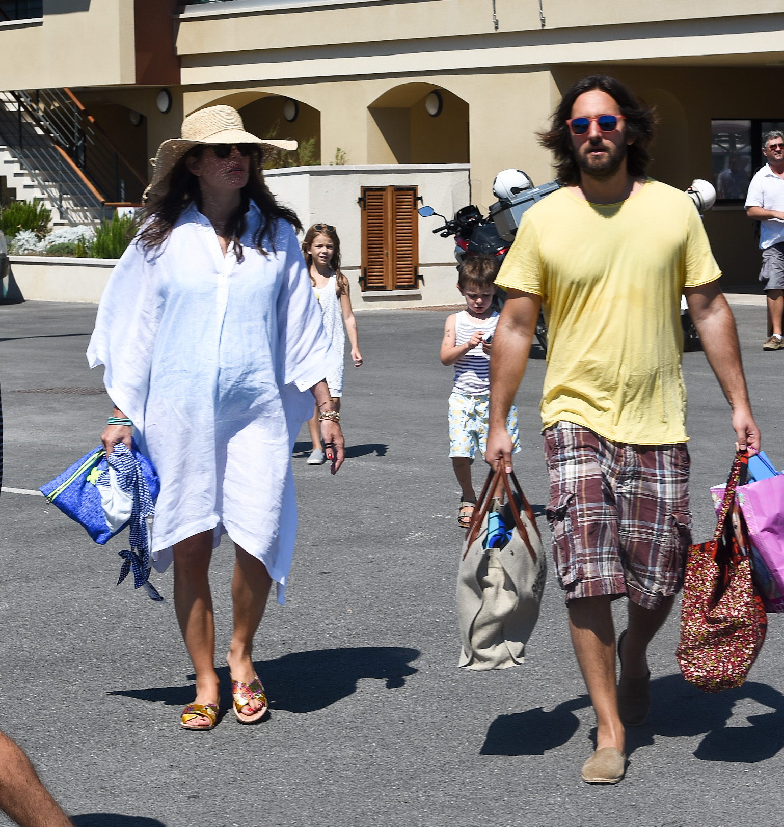Pregnant Charlotte Casiraghi and Dimitri Rassam are seen boarding a yacht in St Tropez harbour, France  Pictured: Charlotte Casiraghi,Dimitri Rassam Ref: SPL5011830 230718 NON-EXCLUSIVE Picture by: Neil Warner / SplashNews.com  Splash News and Pictures Los Angeles: 310-821-2666 New York: 212-619-2666 London: 0207 644 7656 Milan: +39 02 4399 8577 Sydney: +61 02 9240 7700 photodesk@splashnews.com  World Rights