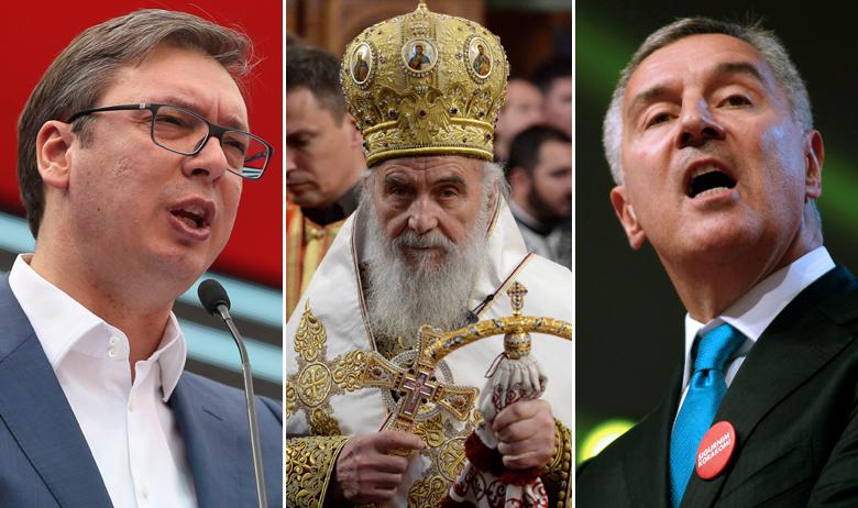 Aleksandar Vučić, patrijarh Irinej, Milo Đukanović