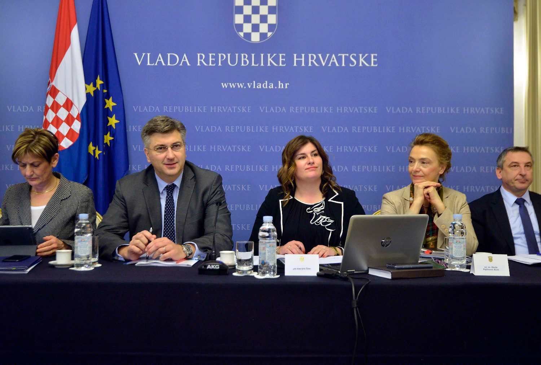 Predsjednik Vlade RH Andrej Plenković i ministrica regionalnog razvoja i europskih fondova Gabrijela Žalac