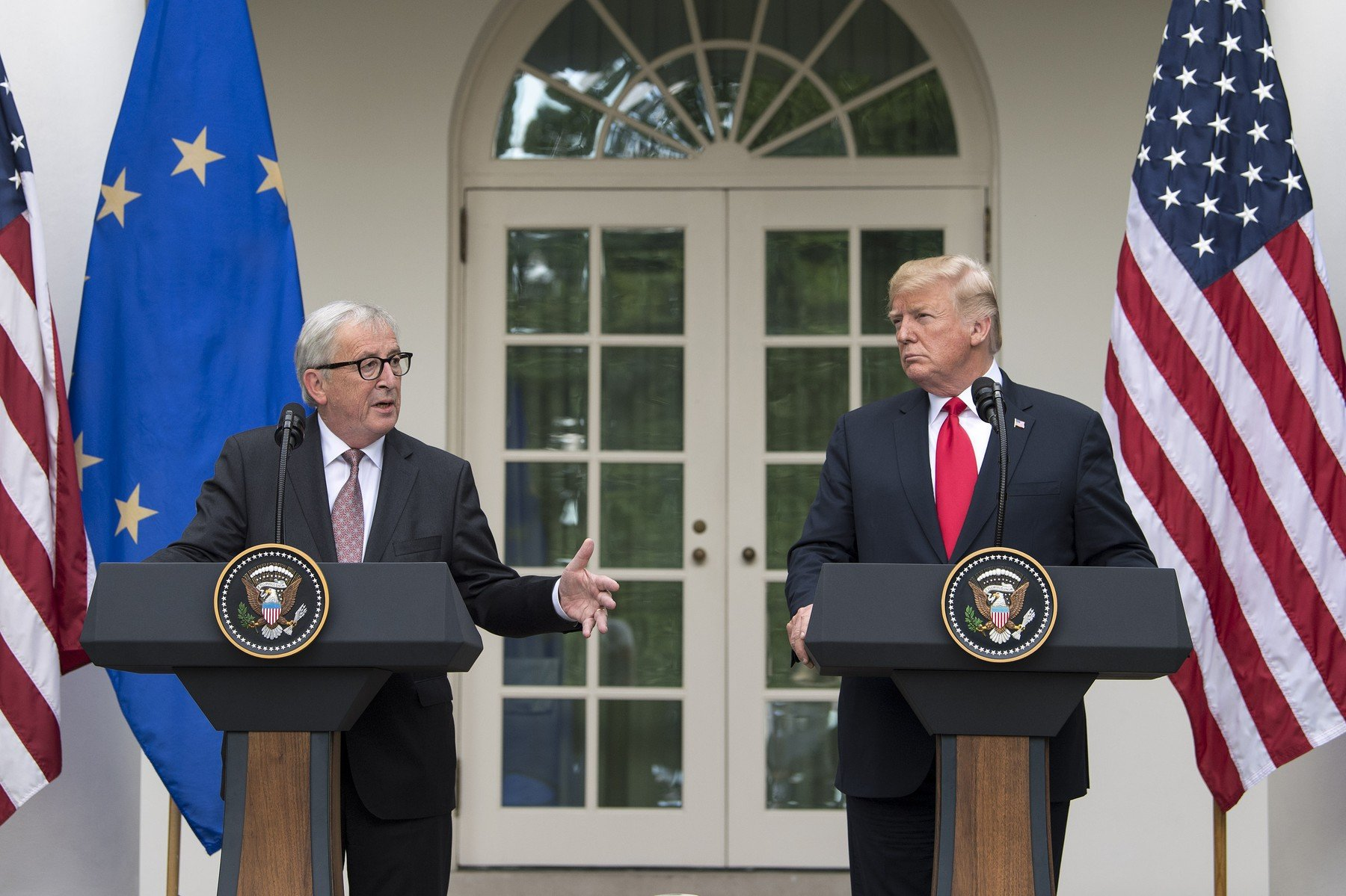 Jean-Claude Juncker i Donald Trump