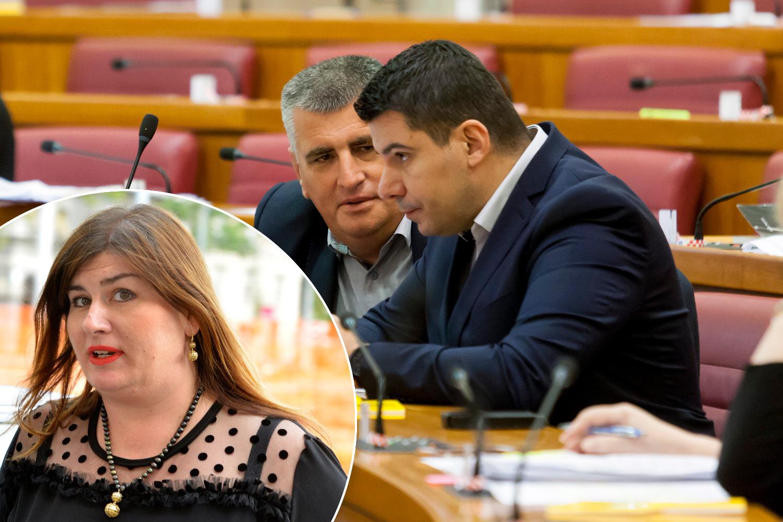 U krugu: Gabrijela Žalac. Na fotografiji: Miro Bulj i Nikola Grmoja iz Mosta