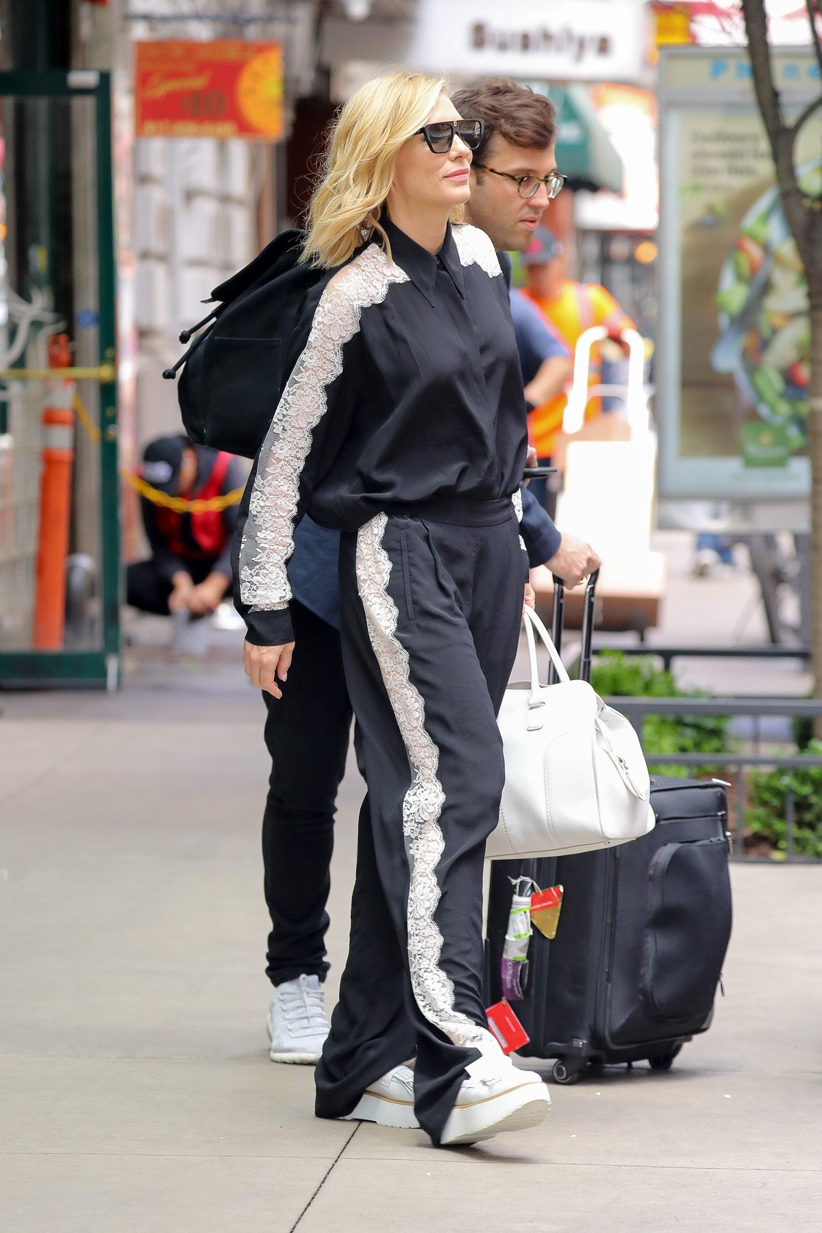 Cate Blanchett was spotted leaving her hotel in New York City. 06 Jun 2018, Image: 374080273, License: Rights-managed, Restrictions: World Rights, Model Release: no, Credit line: Profimedia, Mega Agency