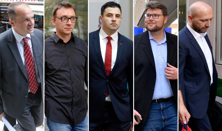 Siniša Hajdaš Dončić, Bojan Glavašević, Davor Bernardić, Peđa Grbin i Mihael Zmajlović