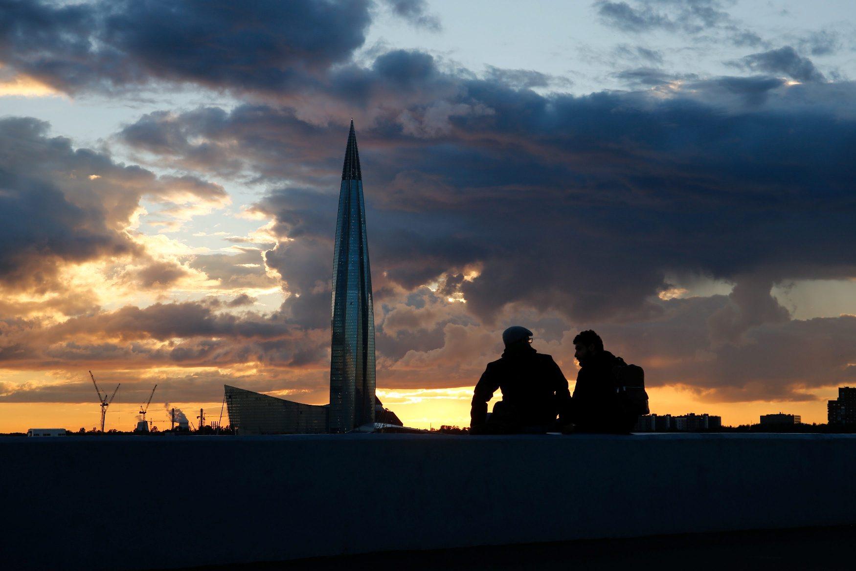 Pogled na Lakhta Centre u Sankt Peterburgu