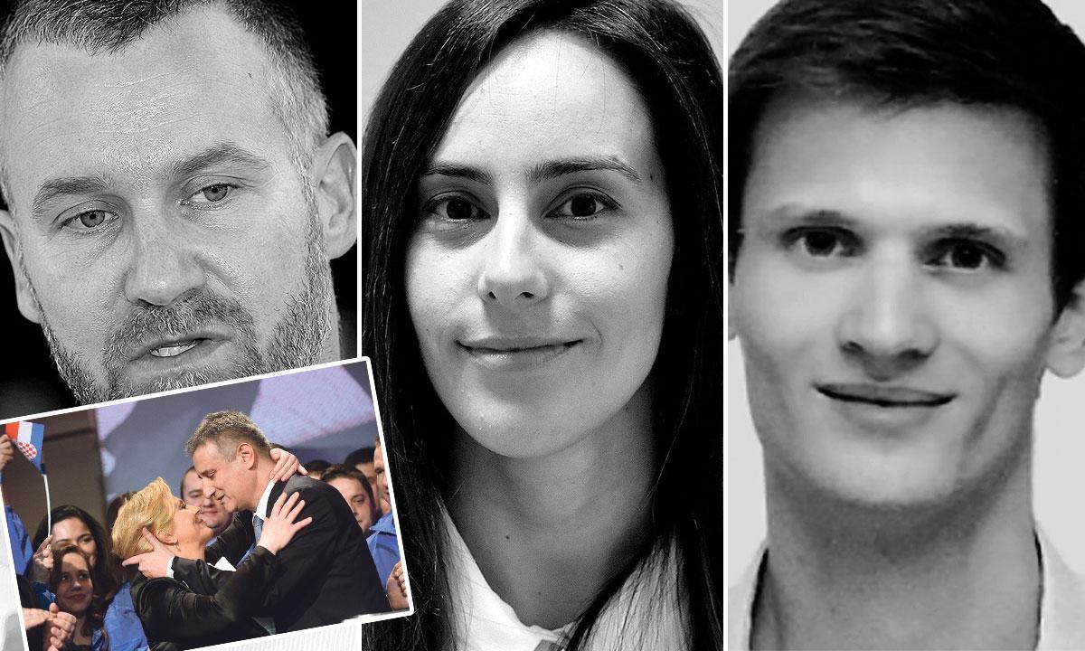 s lijeva na desno: Kristijan Gržetić (bivši glasnogovornik RTL-a), Sanda Mamić (nećakinja Zdravka Mamića), Matej Zadro (bivši PR stručnjak u GNK Dinamo) - osumnjičeni su radili na kampanjama Kolinde Grabar-Kitarović i HDZ-ovoj kampanji za parlamentarne izbore 2015.