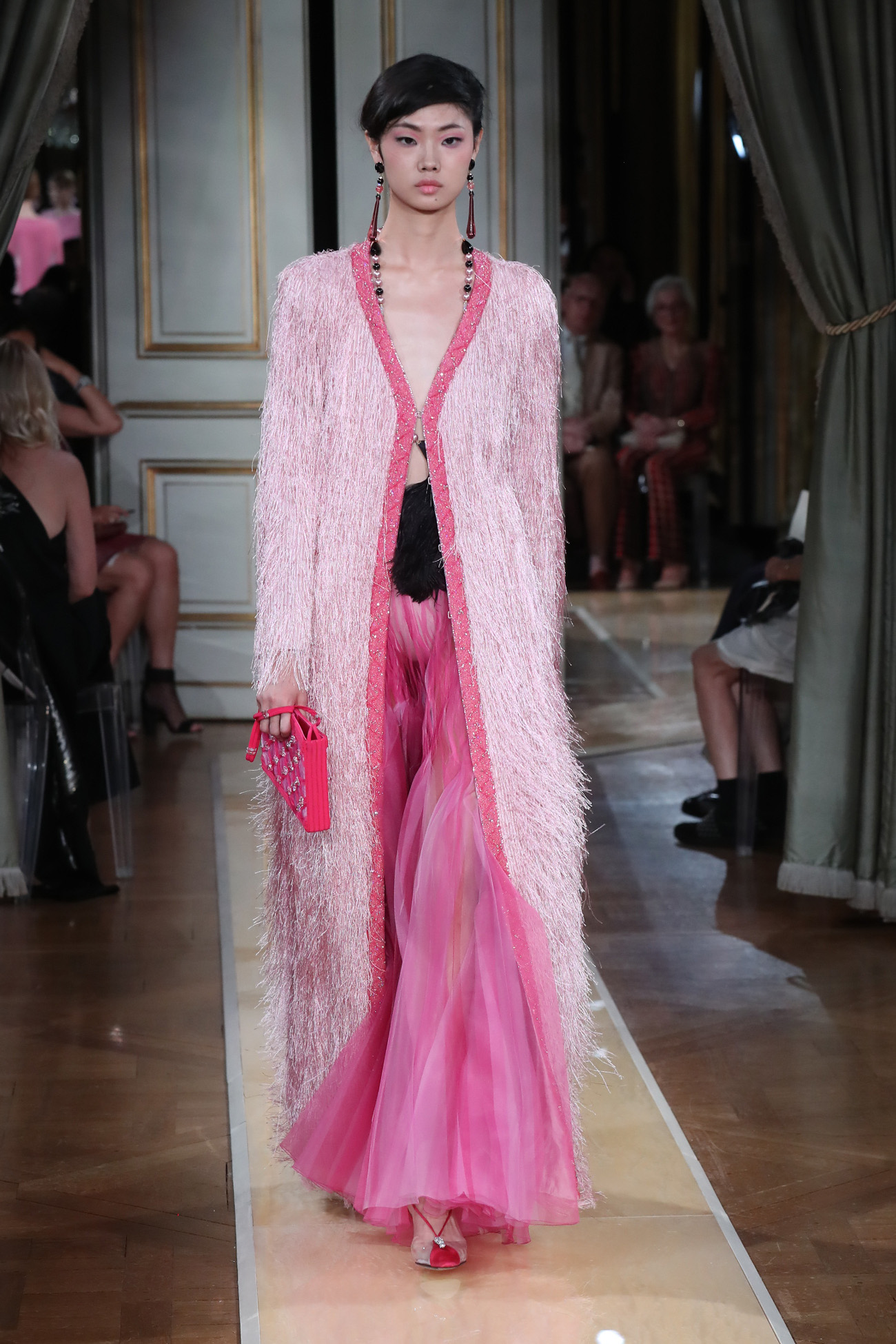 A model walks the runway during the Giorgio Armani Prive Haute Couture Fall/Winter 2018-2019 show as part of Haute Couture Paris Fashion Week on July 3, 2018 in Paris, France.  Pictured:  Ref: SPL5007983 030718 NON-EXCLUSIVE Picture by: Antonio Barros / SplashNews.com  Splash News and Pictures Los Angeles: 310-821-2666 New York: 212-619-2666 London: 0207 644 7656 Milan: +39 02 4399 8577 Sydney: +61 02 9240 7700 photodesk@splashnews.com  World Rights