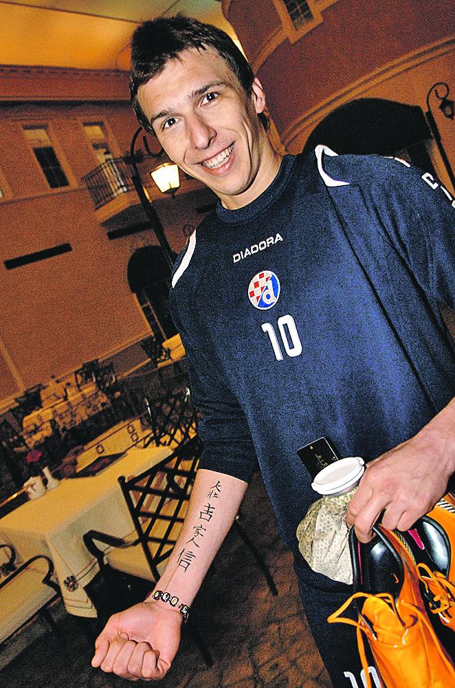 Turska,Belek, 080208. Pripreme Dinama. Tetovaza Marija Mandzukica. Foto: Ronald Gorsic / CROPIX